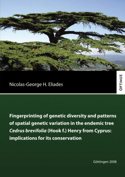 Fingerprinting of genetic divesity and patterns of spatial genetic variation in the endemic tree Ced